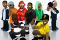 Картинка актеры, музыканты, Inspectah Deck, Masta Killa, Ghostface Killah, Method Man, Метод Мэн, Wu Tang Clan, ...
