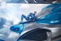 Картинка yuusha, strong, muscular, robot, 2017, power, pose, wallpaper, 4k, Billy, suit, kumo, man, warrior, cloud, ...