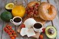 Картинка Vegetables, Cheese, Juice, Булочки, Кофе, Breakfast, Завтрак, Coffee, Сок, Овощи, Сыр, Rolls