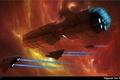 Картинка Higaran ion frigate, космос, космический корабль