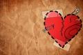 Картинка минимализм, 155, любовь, заплатки, сердце