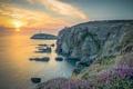 Картинка маяк, Англия, Северный Уэльс, скалы. закат