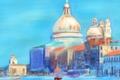Картинка Венеция, картина, собор, Италия, пейзаж