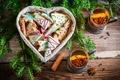 Картинка tea, корица, новогоднее, Новый год, New Year, Christmas, елка, biscuit, cookie, cinnamon, печенье, сладкое, выпечка, ...