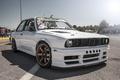 Картинка BMW, white, drift car, E30
