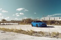 Картинка Car, Muscle, 5.0, Blue, Front, Sky, Mustang, Ford