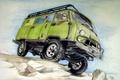 Картинка специальный грузопассажирский, с колёсной формулой 4×4, «Буханка», двухосный автомобиль повышенной проходимости, УАЗ-452 / УАЗ-3741, «Таблетка», ...