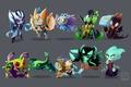 Картинка Puck, Vengeful Spirit, Viper, Rubick, Venomancer, Death Prophet, Slark, OutworldDevourer, Jakiro, Skywrath