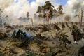 Картинка storm, лавина, всадники, штурм, паника, war, сабли, артиллерия, Атака казаков, кавалерия, немцы дают стрекоча, chivalry, ...
