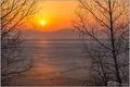 Картинка утро на озере, Восход, заря