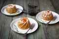 Картинка абрикосовые, выпечка, Julia Khusainova, кексы, вилки, абрикос, фрукты, стакан, тарелки