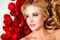 Картинка Petals, Flowers, Makeup, Woman