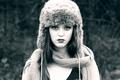 Картинка портрет, winter style, мех, шапка, Imogen