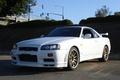 Картинка GTR, Skyline, White, Nissan, R34
