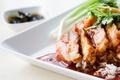 Картинка рис, соус, зелень, еда, мясо, блюдо