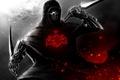 Картинка темно, череп, кинжал, assassin
