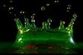 Картинка вода, Капли, зеленый