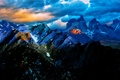 Картинка тучи, Чили, свет, горы, природа, облака, небо, пейзаж, закат