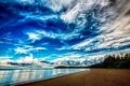 Картинка The sky, beach, clouds, sea