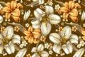 Картинка цветы, узор, бесшовная текстура, текстура