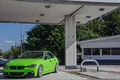 Картинка Зеленая, БМВ, Фары, F30, Tuning, Matte Green, BMW, 330d