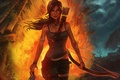 Картинка Лара Крофт, Tomb Raider, 2013, Игры, Game, Лук, Девушка