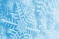 Картинка Снег, след, голубой, зима