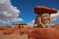 Картинка облака, небо, скалы, пирамида, камни