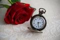 Картинка часы, time, clock, цветок, роза, циферблат, время, flower, dial, rose
