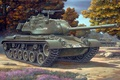 Картинка рисунке, Бранденбурге, Италии, Калибр пушки 90-мм, Германия., Neuruppin, Средний танк, Японии, Австрии, Бельгии, Испании, M47 ...