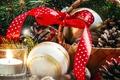 Картинка корзина, Новый год, свеча, украшение, nuts, шишки, лента, decoration, bow, шар, бант, basket, Christmas, New ...