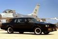 Картинка Бьюик, Buick, истребитель, чёрный, самолёт, передок, небо, 1987, Гранд Нэйшнл, GNX, Grand National