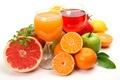 Картинка лимон, яблоки, апельсины, фрукты, цитрусы, грейпфрут, гранат, соки