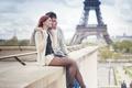 Картинка Couple, boy, mood, Paris, man, love, girl, hug, Eiffel Tower, feeling, woman, city, La tour ...