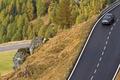 Картинка Машины, дорога, деревья, камни, дорожная разметка