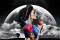 Картинка apple, moon, Fantasy, clouds, tattoo, snow white