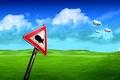 Картинка маяк, трава, дережабли, знак
