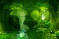 Картинка парк, степени, водопад, деревья, Сказка, призрак, ворота.чветочки, ручей
