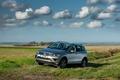 Картинка серый, 2014, Volkswagen, автомобиль, Touareg SE, фото, небо, пейзаж