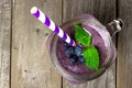 Картинка blueberry, ягоды, berries, йогурт, fresh, коктейль, черника