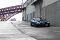 Картинка красный, bridge, вид спереди, red, мост, SLR McLaren, чёрный, black, МакЛарен, Mercedes Benz, Мерседес Бенц