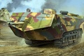 Картинка Сен-Шамон, Saint Chamond, французский танк, рисунок