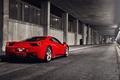 Картинка красный, red, феррари, тунель, Ferrari, 458, Italia, спорткар