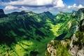 Картинка Швейцария, горы, долина, небо, Бернские Альпы, Justistal, облака