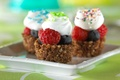 Картинка Пирожное, ягоды, малина, крем, тарелка, еда
