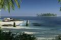 Картинка море, пальмы, пляж, пейзаж