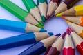 Картинка tip, circle, pencils, colorful