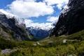 Картинка Fiordland, парк, горы, природа, Новая Зеландия, фото, трава, облака
