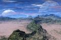 Картинка небо, планета, горы, облака