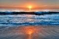 Картинка волна, Laguna Beach, сша, California, море, небо, облака, закат